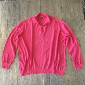 Fedeli Men's 100% Cotton Italian Pullover 1/4 Zip